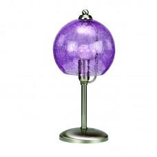 InLight Επιτραπέζιο φωτιστικό από νίκελ ματ μέταλλο και μοβ κρακελέ γυαλί (3366-Μοβ)