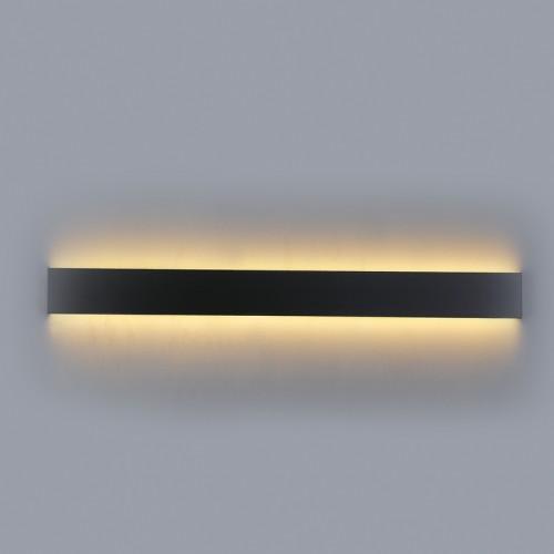 InLight Επιτοίχιο φωτιστικό από μαύρο μέταλλο (43012-BL)
