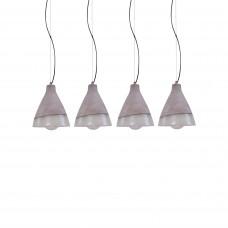 SE 154-160-4 LITE PENDANT LAMP CEMENT+