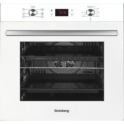 Φούρνος Grünberg RK-1902 Λευκός Γυάλινος