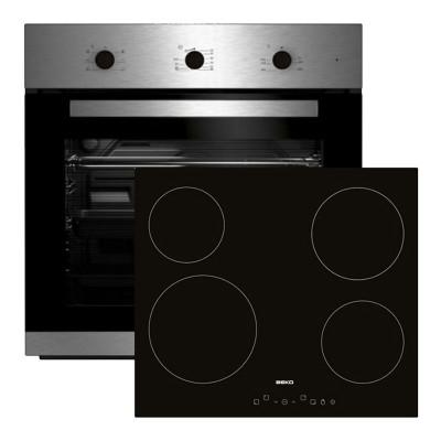 Beko Φούρνος με Εστίες Κεραμικές BIE 22101 X + HIC 64401 T